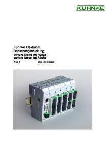 Kuhnke Elektronik Bedienungsanleitung