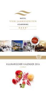 KULINARISCHER KALENDER 2016