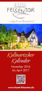 Kulinarischer Kalender. November 2016 bis April
