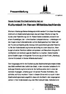 Kulturstadt im Herzen Mitteldeutschlands