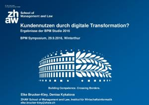 Kundennutzen durch digitale Transformation?