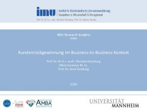 Kundenrückgewinnung im Business-to-Business Kontext