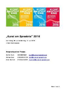 Kunst am Spreeknie 2016