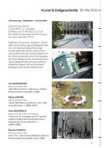 Kunst & Zeitgeschichte 26. Mai 2010