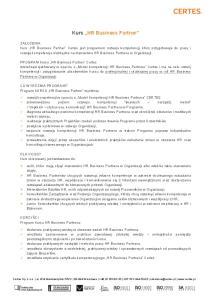 Kurs HR Business Partner