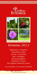 Kurse und Veranstaltungen. Termine 2013