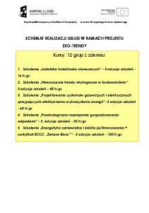 Kursy: 12 grup z zakresu: