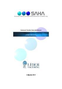Kurumsal Yönetim ve Kredi Derecelendirme Hizmetleri A.Ş. Kurumsal Yönetim Derecelendirmesi