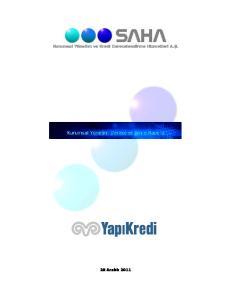 Kurumsal Yönetim ve Kredi Derecelendirme Hizmetleri A.Ş