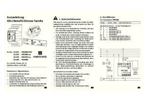 Kurzanleitung DALI-Retrofit-Dimmer Familie