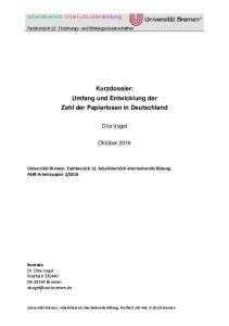 Kurzdossier: Umfang und Entwicklung der Zahl der Papierlosen in Deutschland