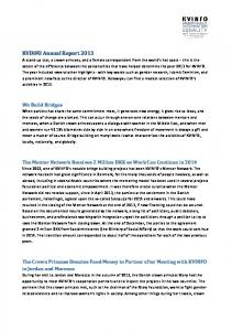 KVINFO Annual Report 2013