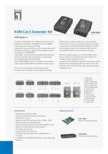 KVM Cat.5 Extender Kit