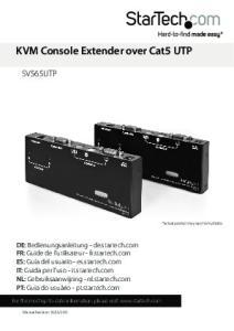 KVM Console Extender over Cat5 UTP
