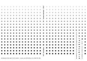 KVV Architektur IfA Sommersemester kommentiertesvorlesungsverzeichnis. architektur. Schauen Sie mal rein unter: