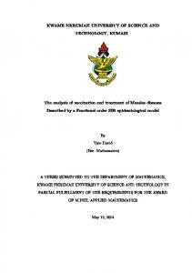 KWAME NKRUMAH UNIVERSITY OF SCIENCE AND TECHNOLOGY, KUMASI