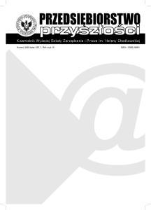 Kwartalnik Wyższej Szkoły Zarządzania i Prawa im. Heleny Chodkowskiej. Numer 3(8) lipiec 2011, Rok wyd. III