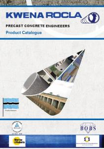 KWENA. Product Catalogue PRECAST CONCRETE ENGINEEERS