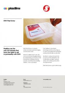 KWH Plast Schur is a company where your needs, great packaging and innovation meet