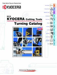 KYOCERA Cutting Tools Turning Catalog