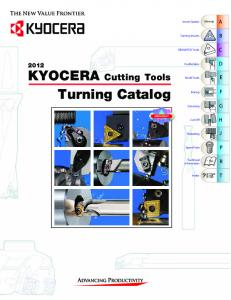 KYOCERA Cutting Tools Turning Catalog
