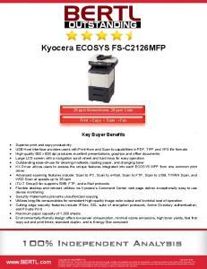 Kyocera ECOSYS FS-C2126MFP