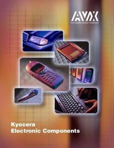 Kyocera Electronic Components A KYOCERA GROUP COMPANY