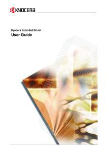 Kyocera Extended Driver. User Guide