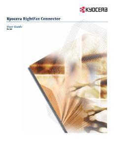 Kyocera RightFax Connector