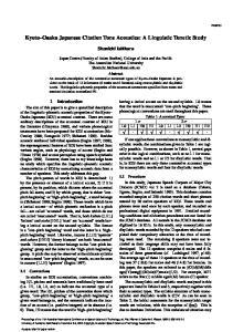 Kyoto Osaka Japanese Citation Tone Acoustics: A Linguistic Tonetic Study