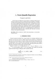 L 1 -Norm Quantile Regression