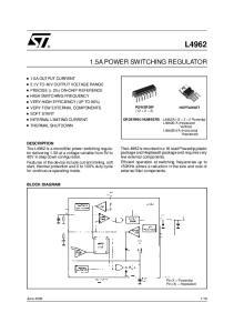 L A POWER SWITCHING REGULATOR