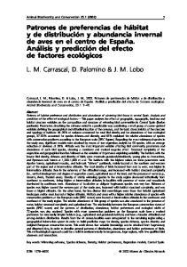 L. M. Carrascal, D. Palomino & J. M. Lobo