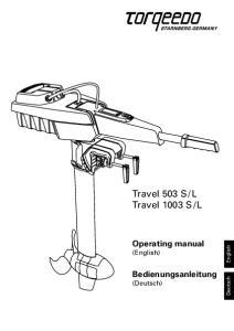L. Operating manual (English) Bedienungsanleitung (Deutsch) English. Deutsch