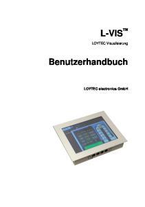 L-VIS. Benutzerhandbuch. LOYTEC Visualisierung. LOYTEC electronics GmbH