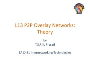 L13 P2P Overlay Networks: Theory