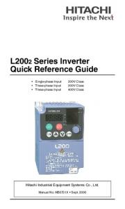 L2002 Series Inverter Quick Reference Guide
