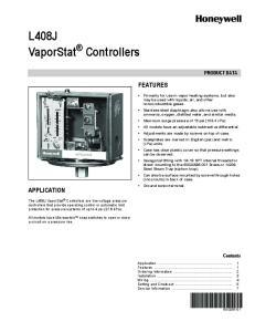 L408J VaporStat Controllers