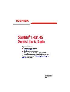L45 Series User s Guide