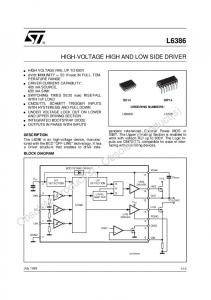 L6386 HIGH-VOLTAGE HIGH AND LOW SIDE DRIVER