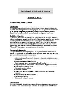 La Academia de la Medicina de la Lactancia. Protocolos ABM