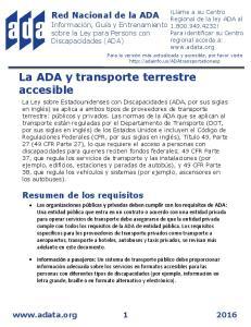 La ADA y transporte terrestre accesible