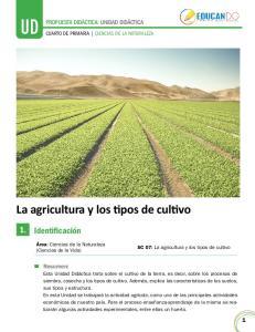 La agricultura y los tipos de cultivo
