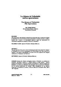 La Aljama de Valladolid: nuevas aportaciones