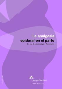 La analgesia epidural en el parto