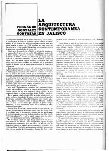 LA ARQUITECTURA CONTEMPORANEA EN JALISCO