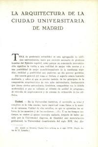 LA ARQUITECTURA DE LA CIUDAD UNIVERSITARIA DE MADRID