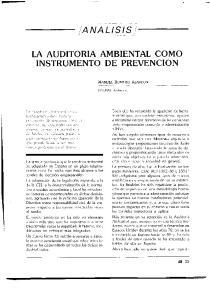 LA AUDITORIA AMBIENTAL COMO INSTRUMENTO DE PREVENCION