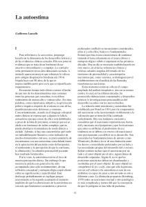 La autoestima. Guillermo Lancelle