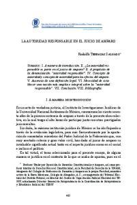 LA AUTORIDAD RESPONSABLE EN EL JUICIO DE AMPARO